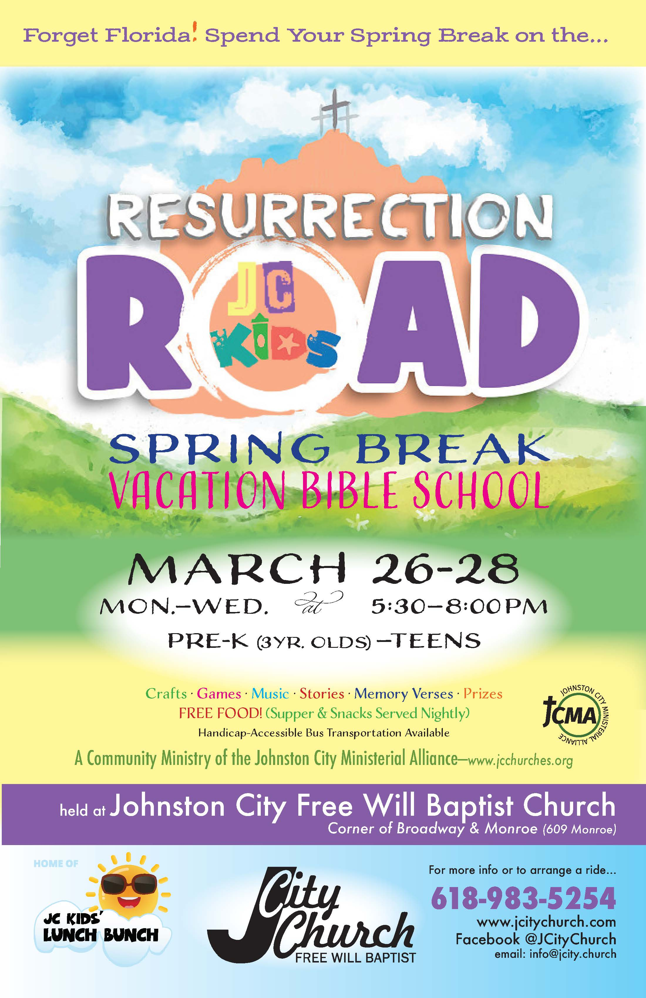Resurrection Road VBS Begins Monday