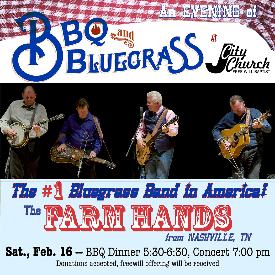BBQ & Bluegrass Night to Feature America's #1 Bluegrass Group